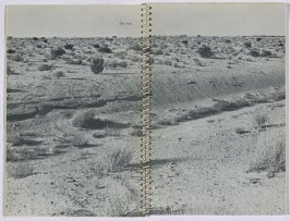 """Test Area,"" in the book Royal Road Test by Edward Ruscha in collaboration with Mason Williams and Patrick Blackwell (Los Angeles: self published, 1967 [third ed. 1971])"