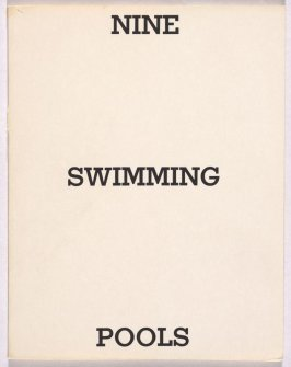 Nine Swimming Pools and a Broken Glass by Edward Ruscha (Los Angeles: self published, 1968)
