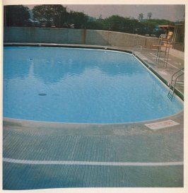 Fourth image in the book Nine Swimming Pools and a Broken Glass by Edward Ruscha (Los Angeles: Self published, 1968)