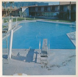 Fifth image in the book Nine Swimming Pools and a Broken Glass by Edward Ruscha (Los Angeles: Self published, 1968)