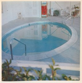Seventh image in the book Nine Swimming Pools and a Broken Glass by Edward Ruscha (Los Angeles: Self published, 1968)
