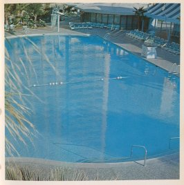 Eighth image in the book Nine Swimming Pools and a Broken Glass by Edward Ruscha (Los Angeles: Self published, 1968)