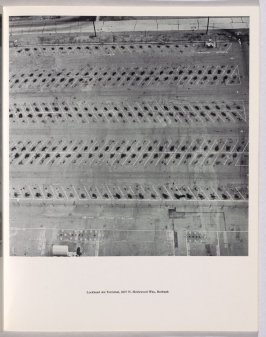 """Lockheed Air Terminal, 2627 N. Hollywood Way, Burbank,"" in the book Thirtyfour Parking Lots in Los Angeles by Edward Ruscha (Los Angeles: self published, 1967)"