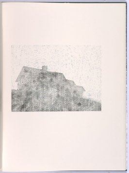 Sitting, in the book Flipping, Kicking, Howling, Rolling, Sitting, Standing, Climbing, Telling by Ed Ruscha (Los Angeles: Sam Francis / The Lapis Press, 1988)