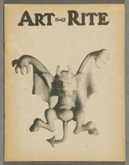 Devil, front cover of Art-Rite Magazine (no. 11-12, Winter-Spring 1976)
