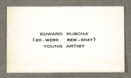 Illustration 1 in Edward Ruscha ( ED - WERD REW - SHAY) Young Artist ( Minneapolis: The Minneapolis Institute of Arts, 1972) exhibition catalogue