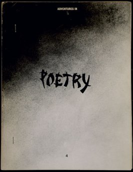 Poetry, cover of the magazine Adventures in Poetry, no. 4 (Summer, 1969)