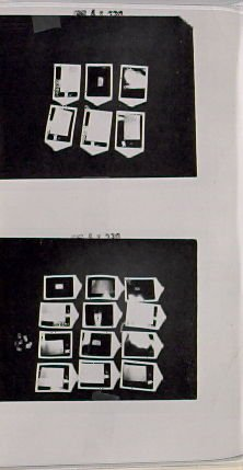 Untitled, illustrations 9 and 10, in the book Business Cards by Edward Ruscha in collaboration with Billy Al Bengston (Hollywood: Heavy Industry Publications, 1968)