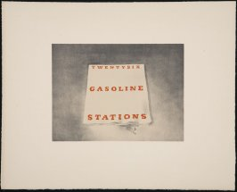 Unassigned Proof for Twentysix Gasoline Stations, from the Book Covers series