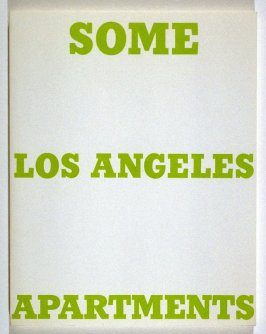 Some Los Angeles Apartments by Edward Ruscha (Los Angeles: self published, 1965 [second edition, 1970])
