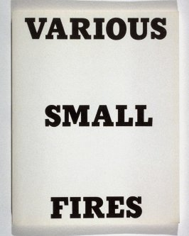 Various Small Fires and Milk by Edward Ruscha (Los Angeles: self published, 1964 [second edition, 1970])
