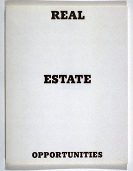 Real Estate Opportunities by Edward Ruscha (Los Angeles: self published, 1970)