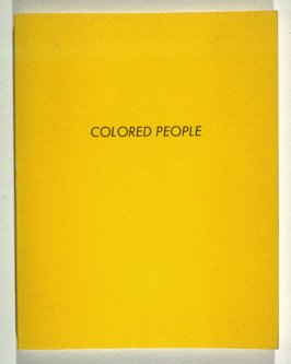 Colored People by Edward Ruscha (Los Angeles: self published, 1972)