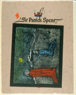 Illustration for old English ballad, Sir Patrick Spens