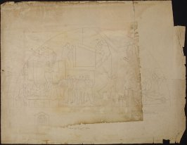Study for a fresco, School for the Deaf and Dumb, Berkeley, California