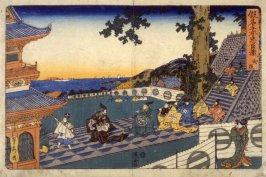Scene from Daijo, from the series Kanadehon Chuushingura