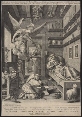 Saint Francis, Bedridden and Consoled by a Musician Angel
