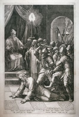 Christ Bore Caiaphas or the False Witness, from a series of The Passion