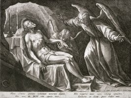 Angels visiting Christ in his Sepulchre