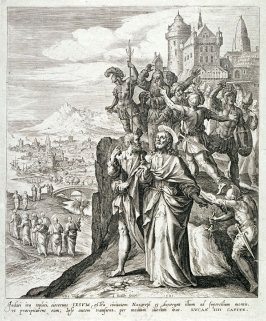 Christ escapes from those who want to throw him off the mountain