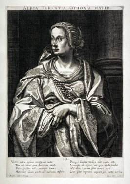 Albia Terentia , Mother of Otho, from set of Roman Emperors and Empresses