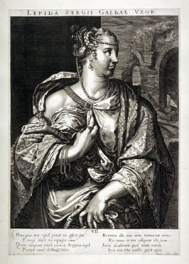 Lepida , Wife of Galba, from set of Roman Emperors and Empresses
