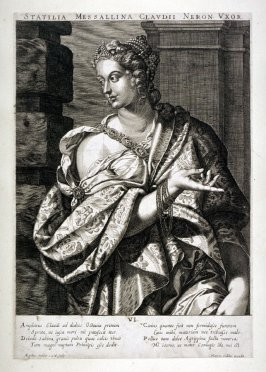 Statilia Messalina, Wife of Nero, from set of Roman Emperors and Empresses