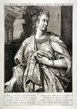 Aelia Petina, Wife of Claudius, from set of Roman Emperors and Empresses