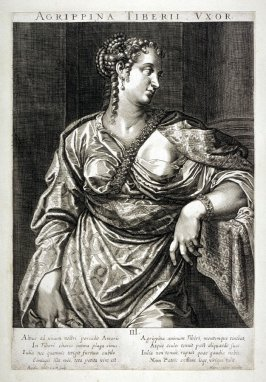 Vipsania Agrippina, wife of Tiberius, from set of Roman Emperors and Empresses
