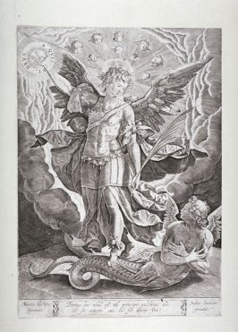 Archangel Michael Slaying the Serpent