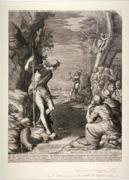 John the Baptist preaching in the desert