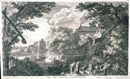 View of the Outskirts of Amsterdam (Riverscape with Boats)