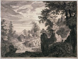 Landscape with a Waterfall (from the Four Tyrolean Landscapes)
