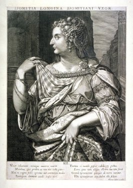 Domitia Longina , Wife of Domitian, from set of Roman Emperors and Empresses