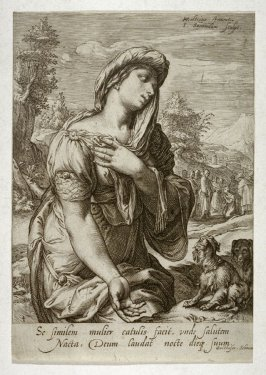 The Woman of Cana, from series of Famous Women of the New Testament