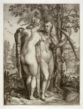 Two nymphs from the entourage of Diana