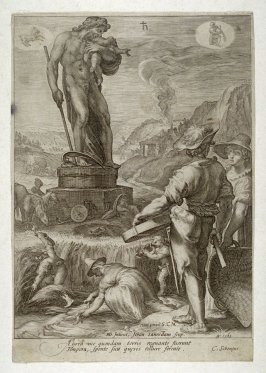 Saturn Presiding over Agriculture, from the series Seven Planetary Gods