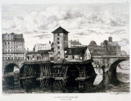 La Pompe du Pont Notre Dame, demolie en 1858 (The Notre Dame Pump, Demolished in 1858)