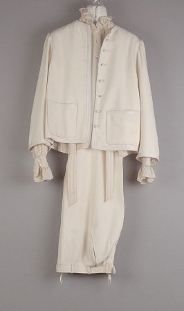 Pantsuit: jacket, trousers, and blouse