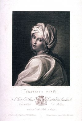 Beatrice Cenci, after Guido Reni's painting in the Palazzo Barberini, Rome.