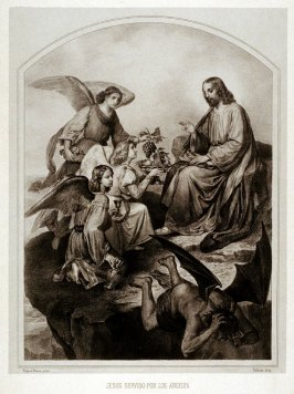 Jesus Servido Por Los Ángeles(Jesus Being Served by Angels)