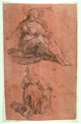 Two Studies of a Female Figure