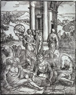 The Disciples of Astronomy and the Mathematics of Chance, frontispiece from Le sorti, Venice: 1540
