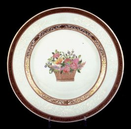 Plate, Basket of flowers