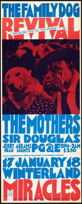 Mothers, Sir Douglas Quintet, PG&E, Miracles, January 17 & 18, Winterland