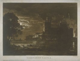 Caernavon Castle, from the series 'Views in Wales'