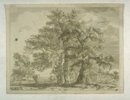 Landscape with Four Large Trees and Peasant Cottage