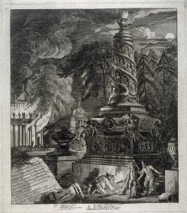 Temple of Ephesus in Flames