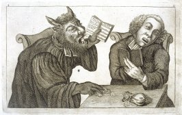 Hymn - Gambling with the Devil, plate 4 from Tim Bobbin [pseudonym of John Collier], Human Passions Delineated (1773)
