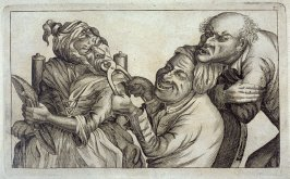 Pulling a Tooth No. 3, plate 7 from Tim Bobbin [pseudonym of John Collier], Human Passions Delineated (1773)